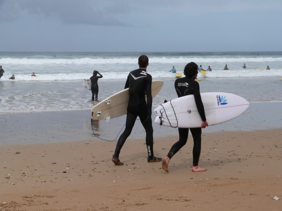 surfers Watergate Bay