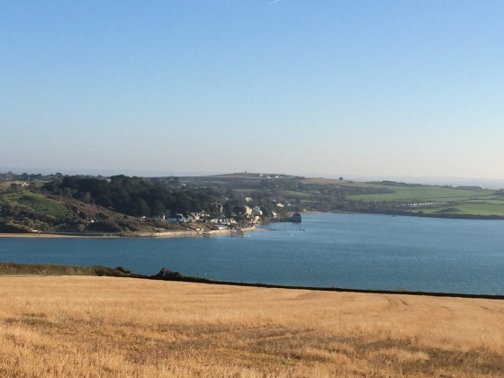 Walking by The Camel Estuary in Padstow